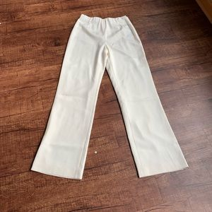 Lafayette 148 New York cream silk relax trousers